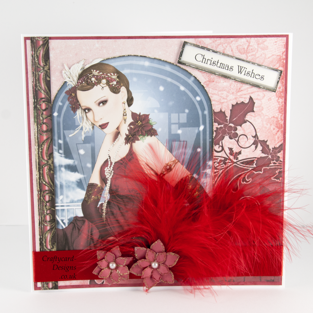 Christmas Art Deco Card - Crafty Card Designs