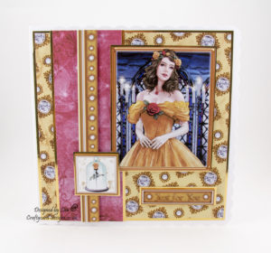 This handmade card has been created using 'Once Upon A Fairytale' cd by Debbi Moore Designs