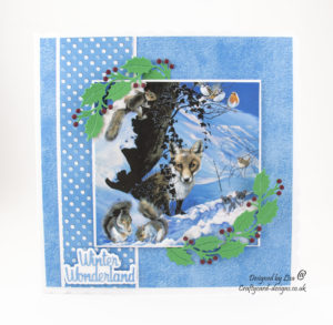 handmade card has been created using Pollyanna Pickering 'A Winters Tale' dvd-rom by Creative Crafting World.