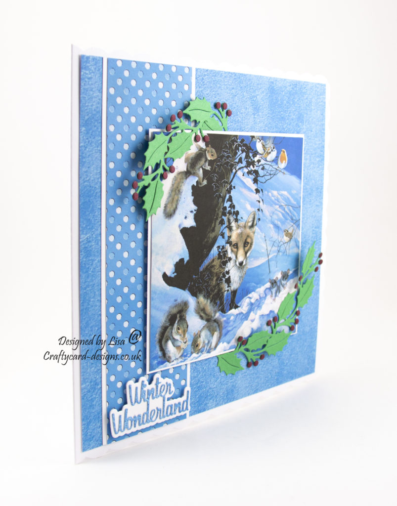 Today's handmade card has been created using Pollyanna Pickering 'A Winters Tale' dvd-rom by Creative Crafting World.
