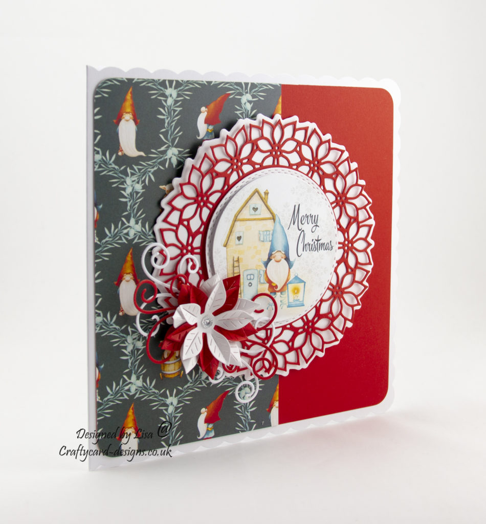 Today's handmade card has been created using 'Enchanted Christmas, Icy Breeze' from Creative Crafting World.