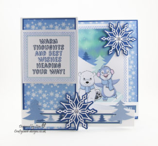 Today's handmade Christmas card has been created using 'Cool Cuties' cd-rom by Debbi Moore Designs.
