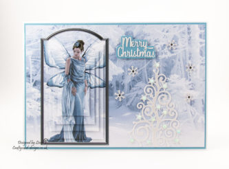 Today's handmade card has been created using 'Winter Fairies' by Debbi Moore Designs.