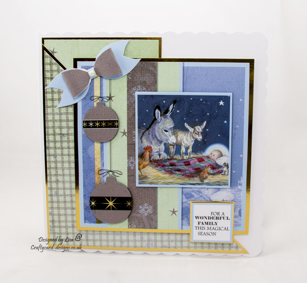 Today's handmade Christmas card has been created using 'Once Upon A Christmas volume II'dvd-rom by Audrey Tarrant fromCreative Crafting World.