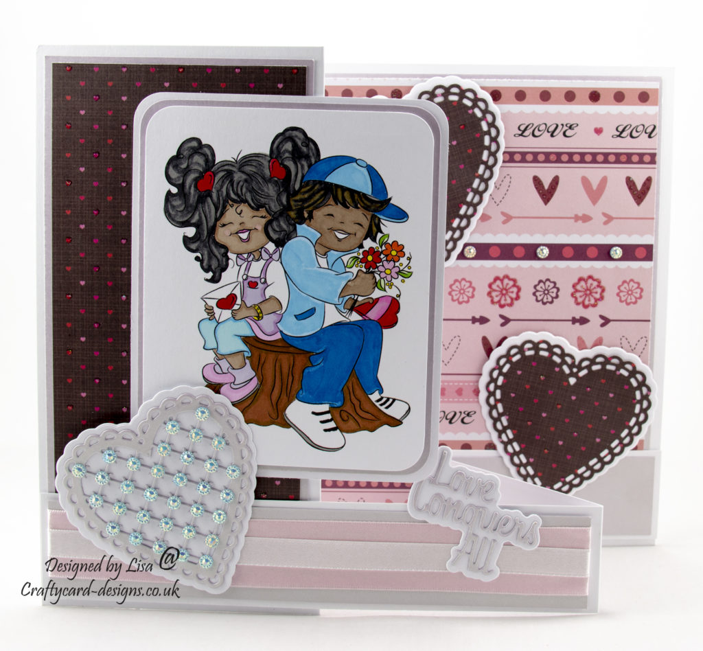 Today's handmade card has been created for I Love Promarkers Blog Challenge using a digi image from Digi Doodle Studios.