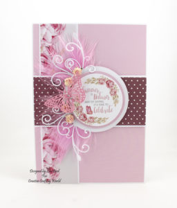 Today's handmade card has been created using The Paper Boutique 'Butterfly Ballet' paper and die collection. This collection is from Creative Crafting World.