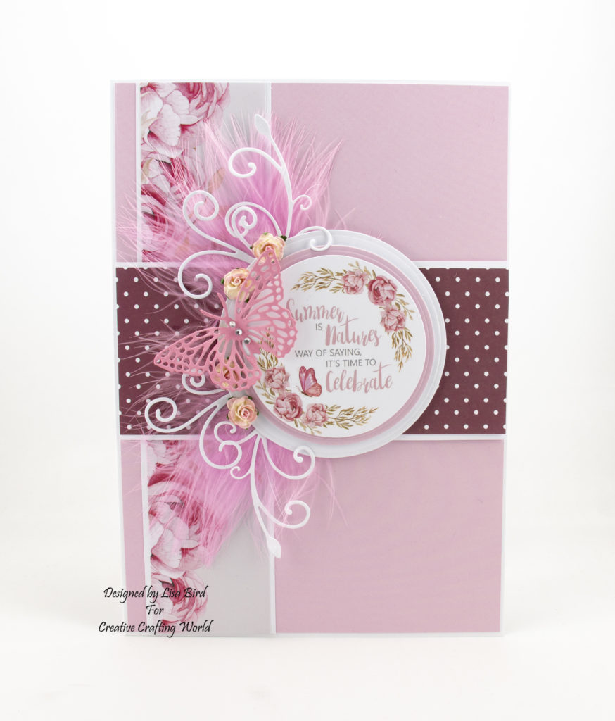 Today's handmade card has been created using The Paper Boutique 'Butterfly Ballet' paper and die collection. This collection is fromCreative Crafting World.