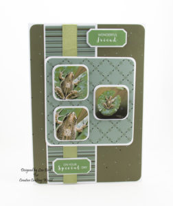 Today's handmade card has been created using the new dvd-rom from Creative Crafting World called British Wildlife Volume III.