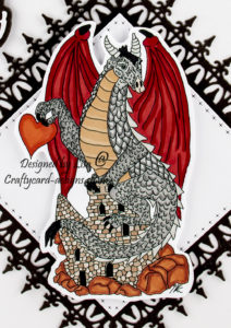 Today's handmade card has been created for I Love Promarker blog challenge 378. I have used a digi image from Ike's Art called Dragon 1.