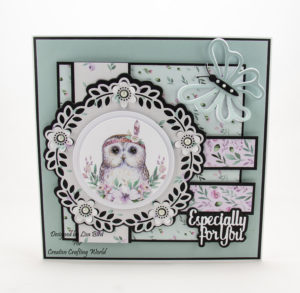 Today's handmade card has been created using the new paper collection from Creative Crafting World called 'The Magical Forest'. This is another paper collection from The Paper Boutique range.