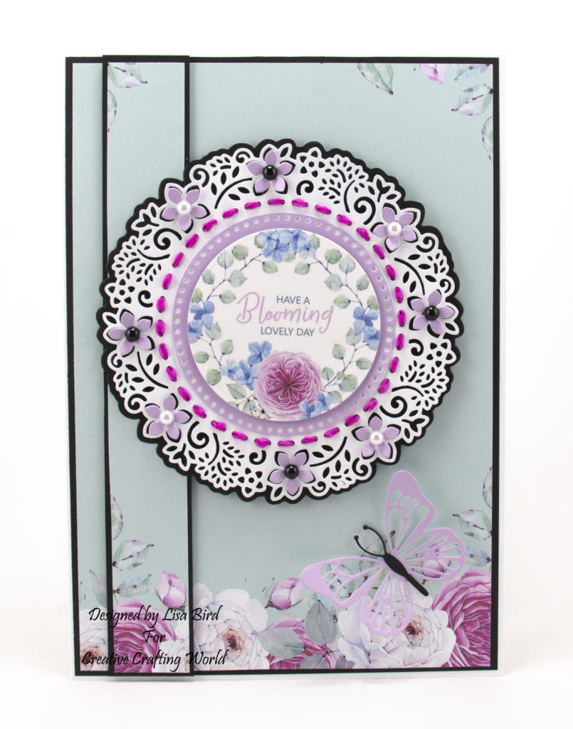 Today's handmade card has been created using the wonderful new die and paper collection from Creative Crafting World called 'Springtime Blooms'.  This is another die and paper collection from The Paper Boutique range.