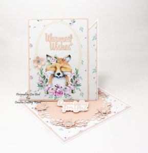 This handmade card has been created using a paper collection called 'The Magical Forest'. This paper collection is from The Paper Boutique range from Creative Crafting World