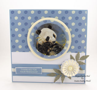 Today's handmade card has been created using the new paper collection fromCreative Crafting Worldcalled World Wildlife Volume III. With art work by Pollyanna Pickering.