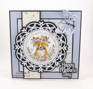 Today's handmade card has been created using 'The Magical Forest' paper collection from Creative Crafting World.