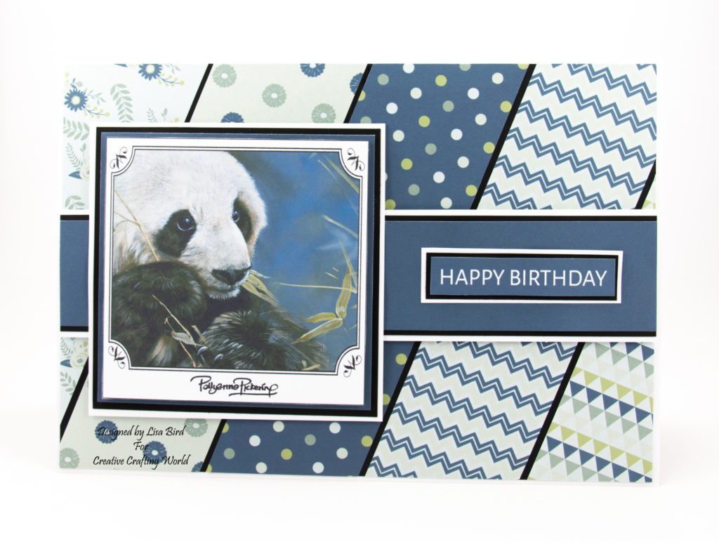 This handmade card has been created using World Wildlife Volume III dvd-rom from Creative Crafting World. With art work by Pollyanna Pickering.