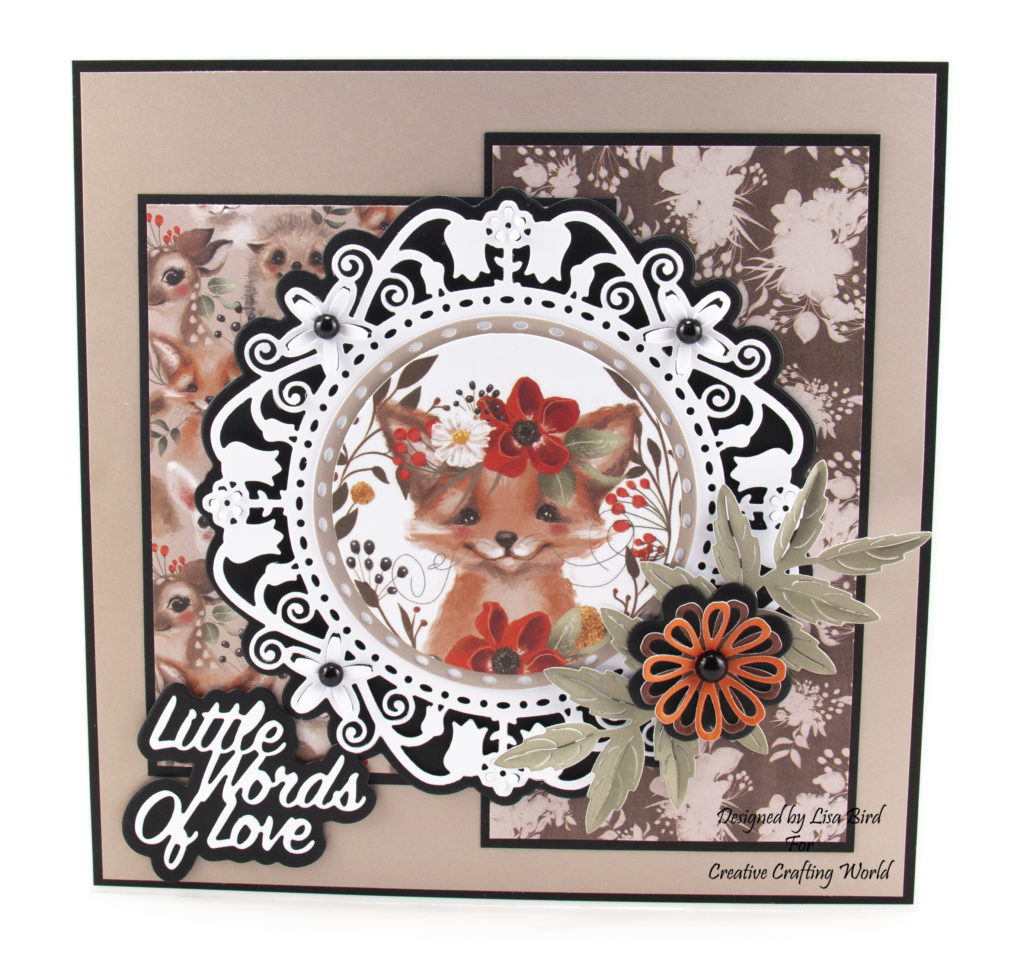 This handmade card has been created using a new paper collection called 'Happy Days'. The paper collection from The Paper Boutique range fromCreative Crafting World.