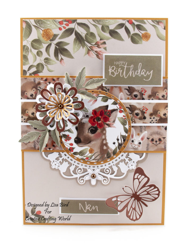 This handmade card has been created using a new paper collection called 'Happy Days'. This paper collection from The Paper Boutique range fromCreative Crafting World.