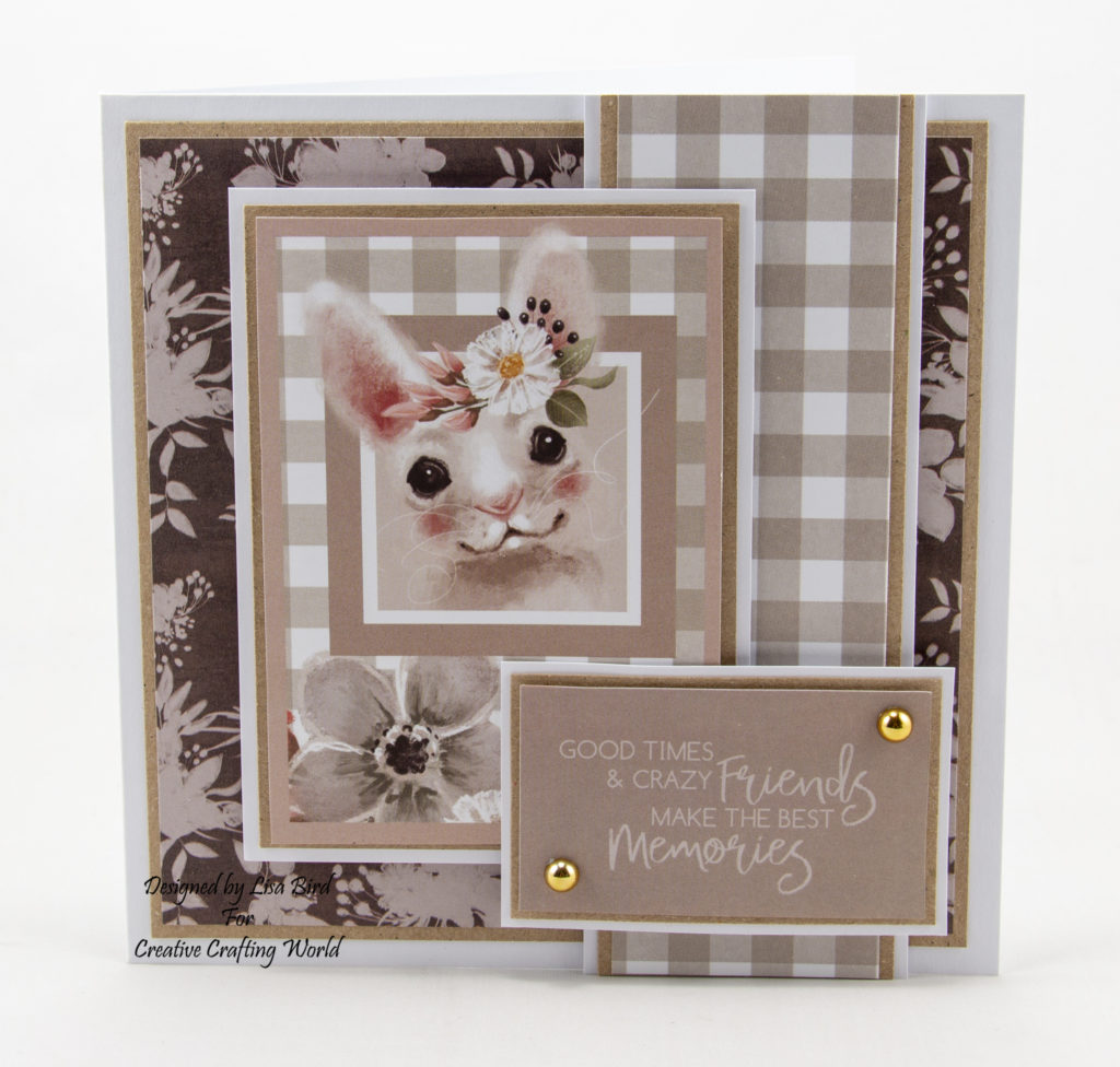"These 6"" by 6"" handmade cards have been created using a new paper collection called 'Happy Days'. This paper collection is from The Paper Boutique range from Creative Crafting World."