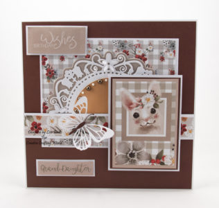 This handmade card has been created using a new paper collection called 'Happy Days'. The paper collection from The Paper Boutique range from Creative Crafting World.