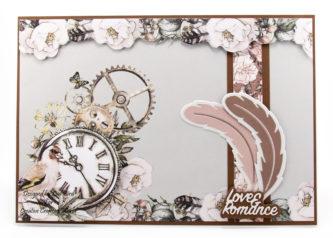 Steampunk Romance Card Tutorial , feathers