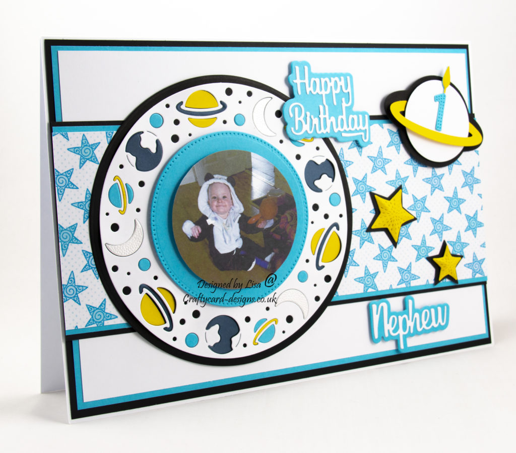 Moon and stars, paper pieced