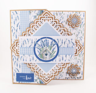 Lavender Flowers, Handmade Card
