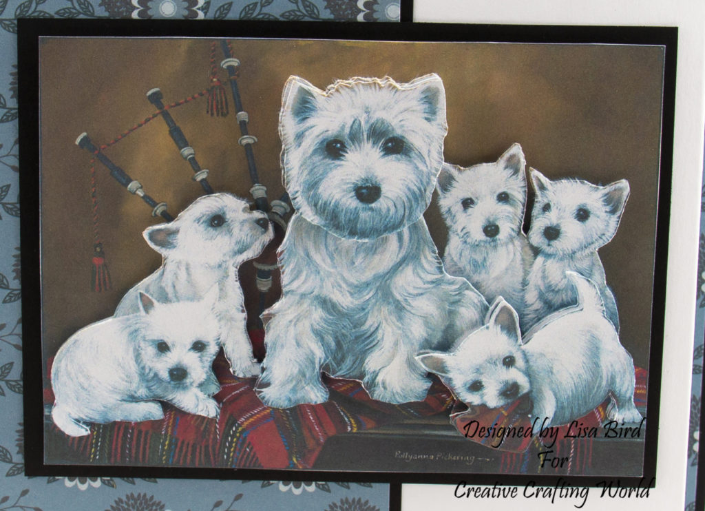 Decoupage image of dogs