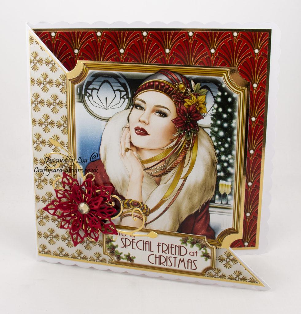 Special Friend Art Deco Christmas card using Christmas Dreams paper kit