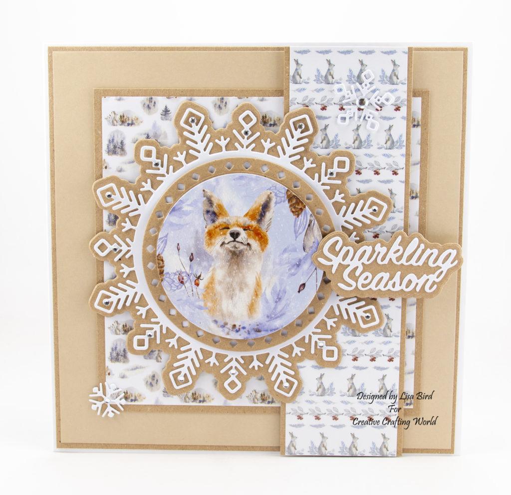 Fox Christmas Card using A Sprinkle Of Christmas