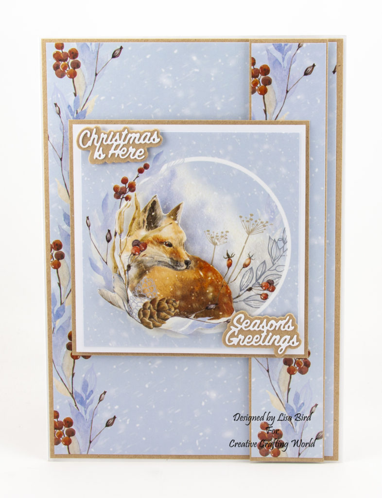 Handmade card using A Sprinkle Of Winter paper collection