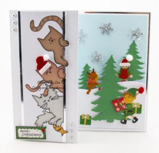 Christmas card using Did someone say cream cake digi image