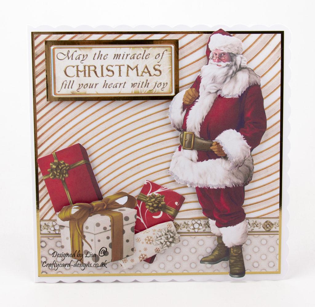 Santa Claus Christmas card with presents