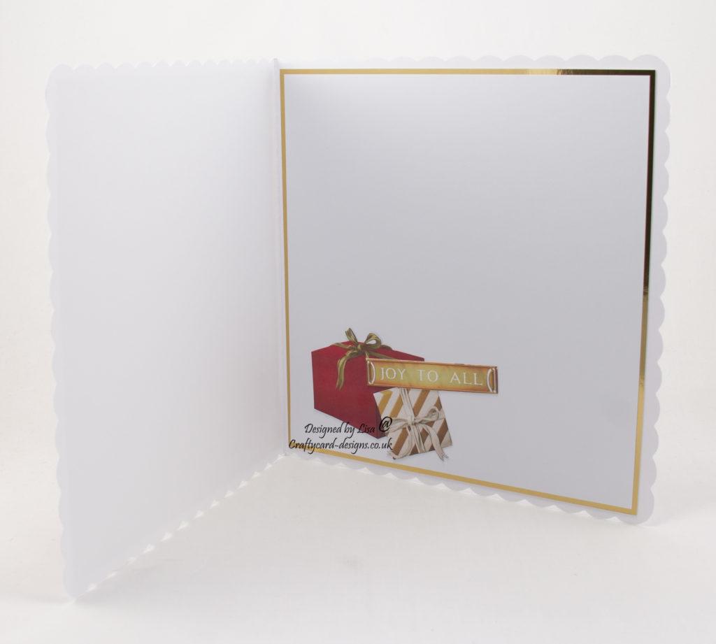 inside of Christmas card