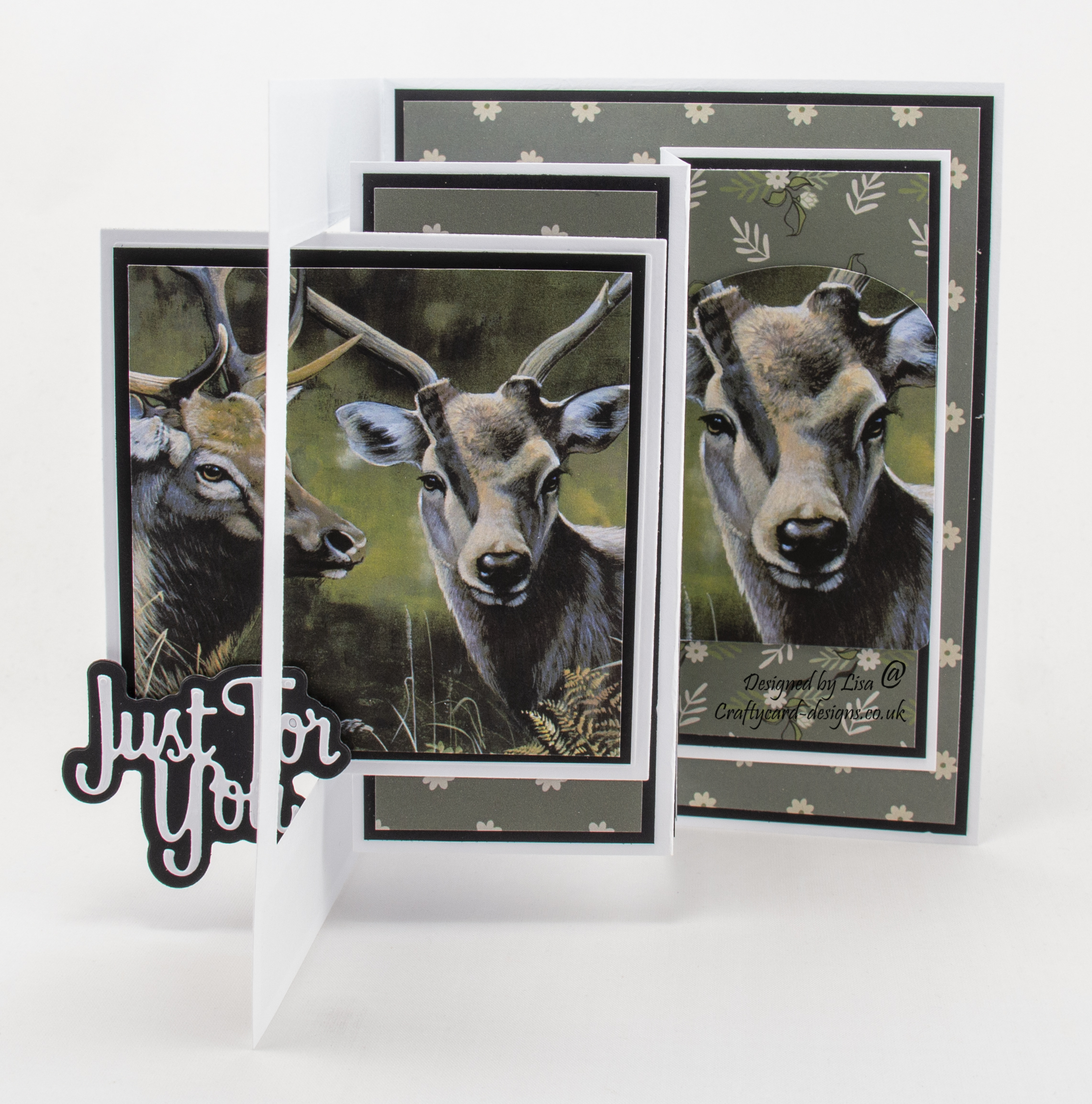 Swing card using Pollyanna Pickering World Wildlife Volume III