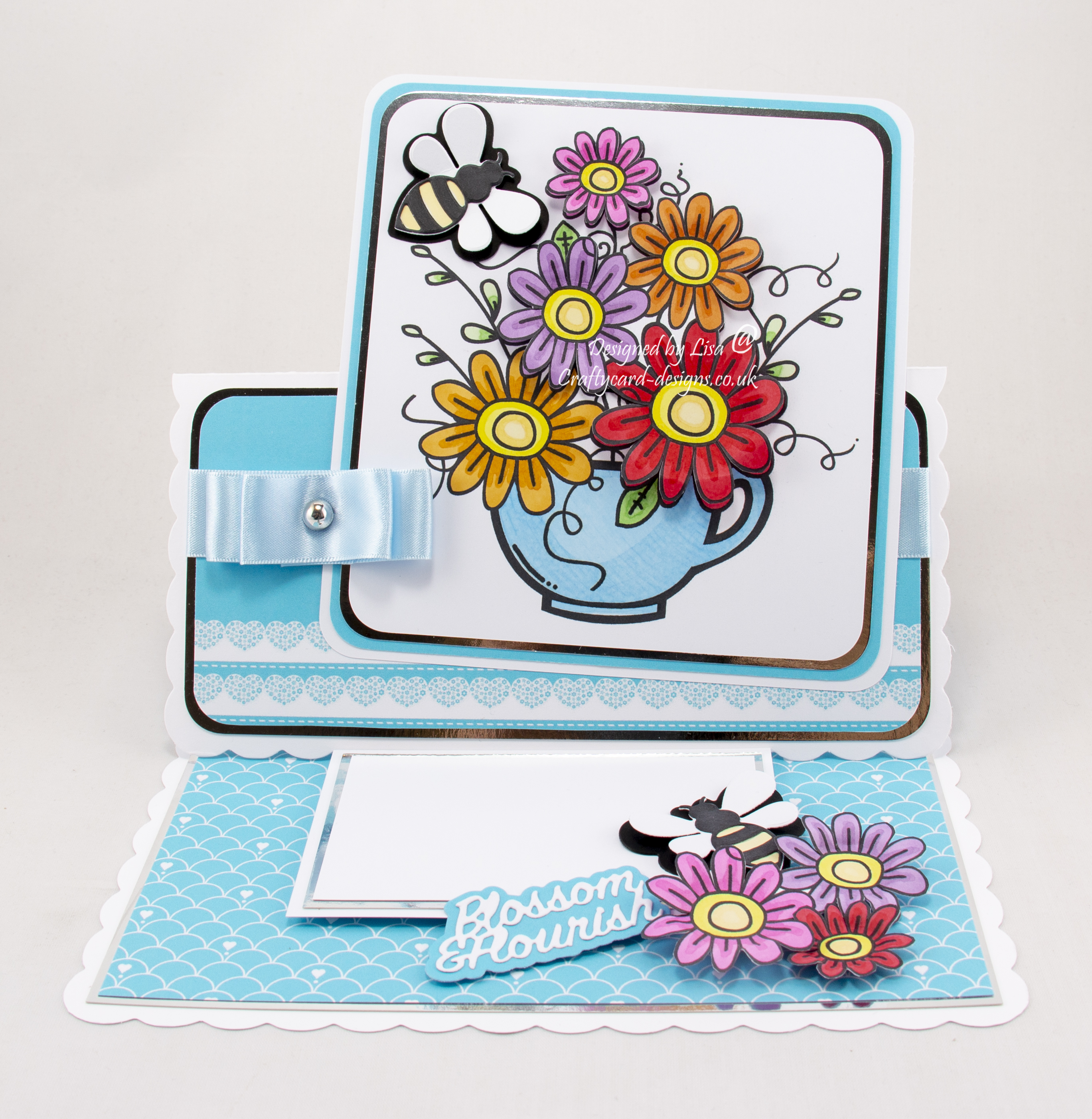 Teacup Flowers digi image from Bugaboo stamps