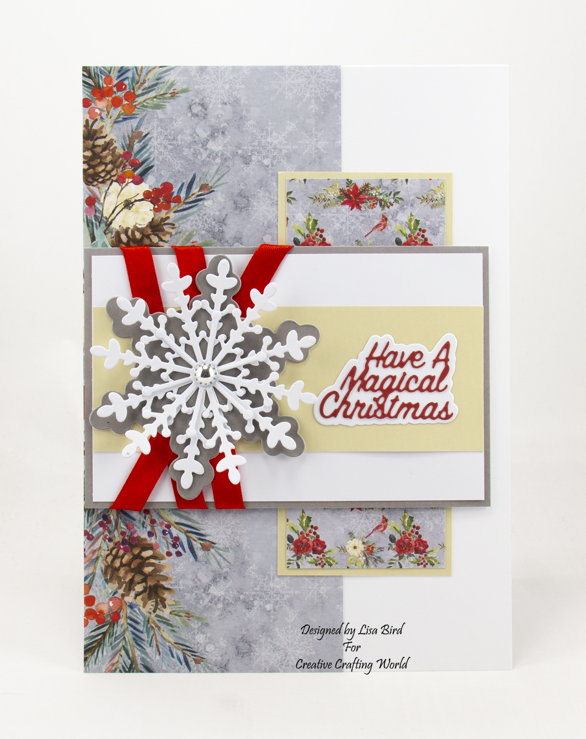 Handmade card using Once Upon A Christmas paper collection
