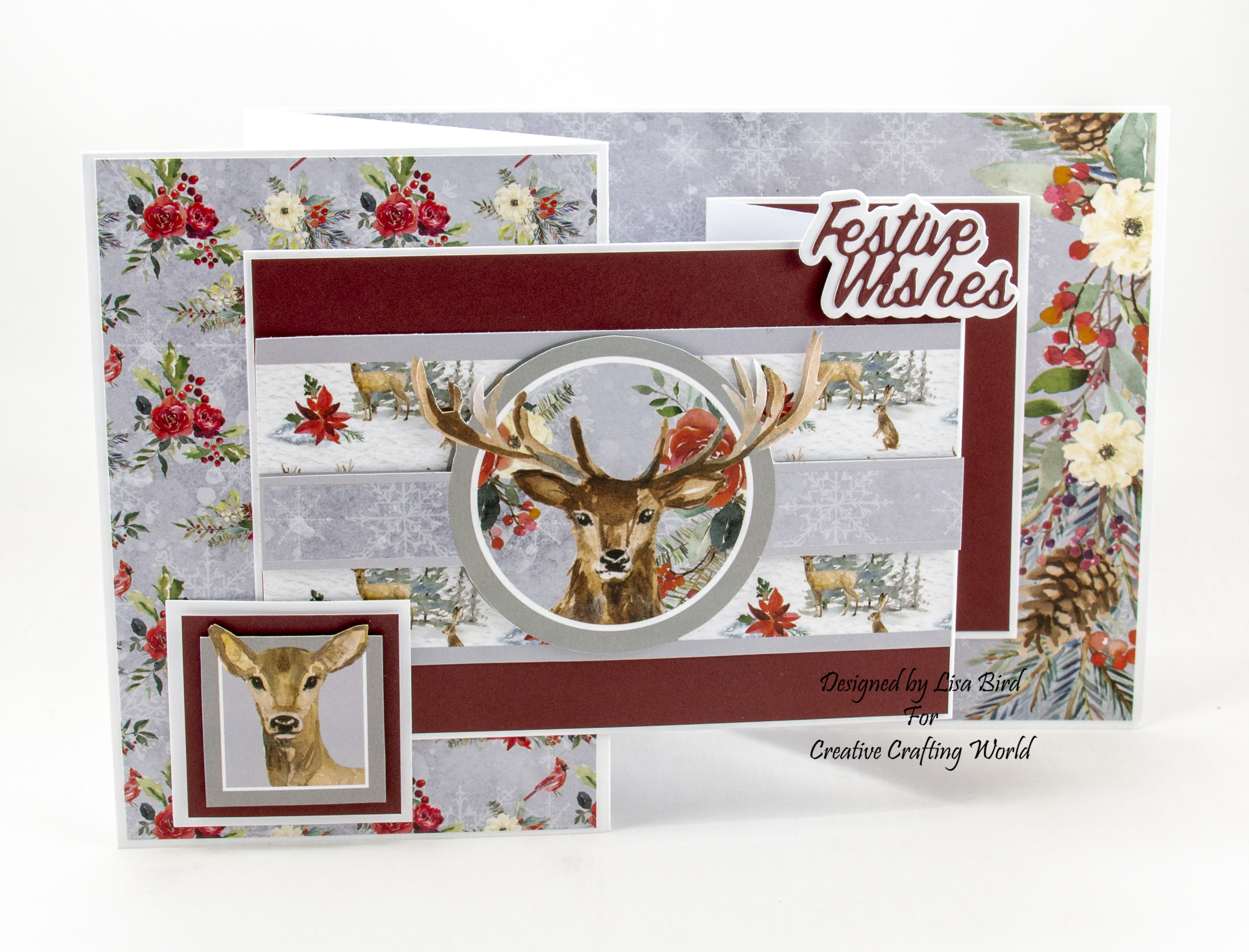 Christmas card using Once upon a Christmas paper collection