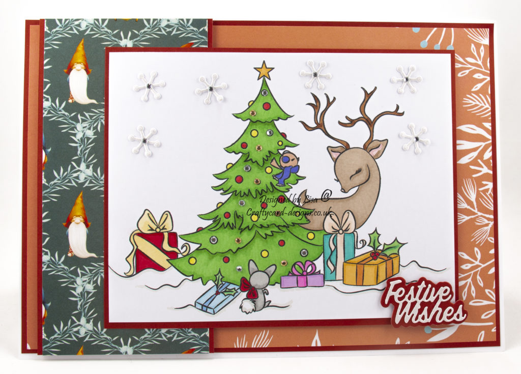Handmade card using Christmas Morning digi image
