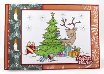Christmas Morning digi image handmade card