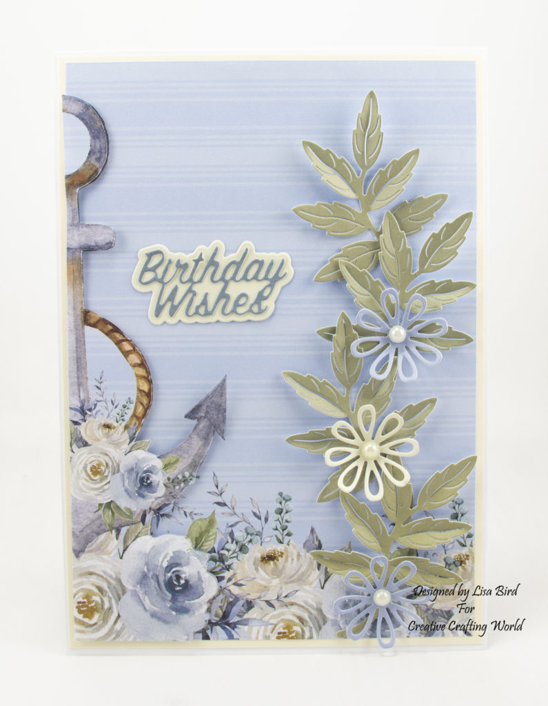 Handmade card using Ocean Breeze paper collection
