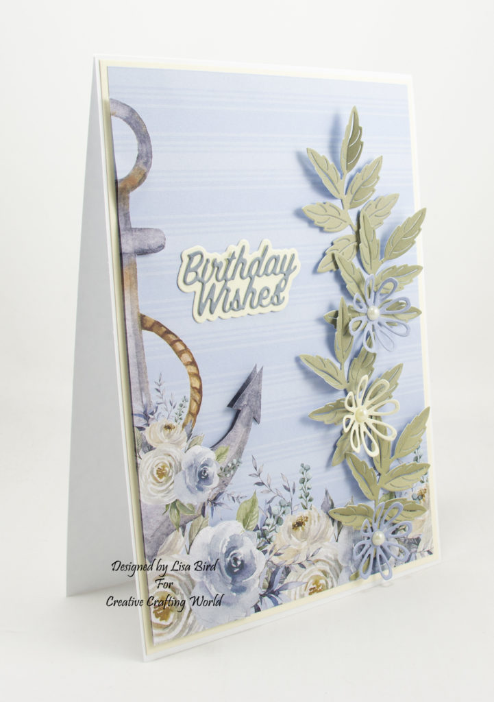 Showing the side of the card to show the depth