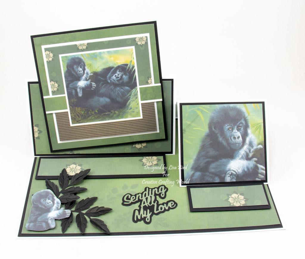 Handmade card using Pollyanna Pickering The Legacy - Gorillas