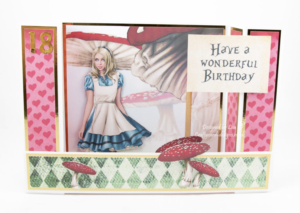 Handmade card using Journey to wonderland II dimensional cd rom