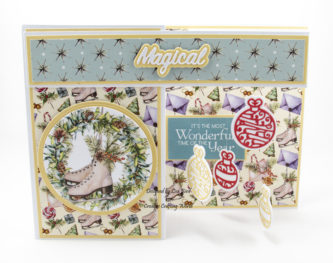 Handmade card using A Traditional Christmas paper collection