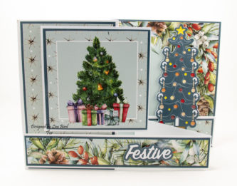 Handmade card using A Traditional Christmas paper collection and tree die