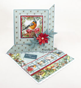 Handmade card using A Traditional Christmas with poinsettia flower