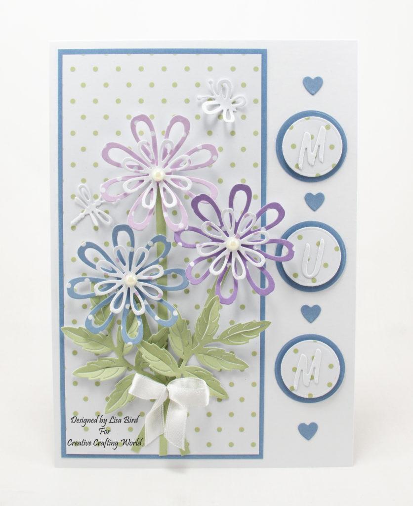 Handmade flower card for mum