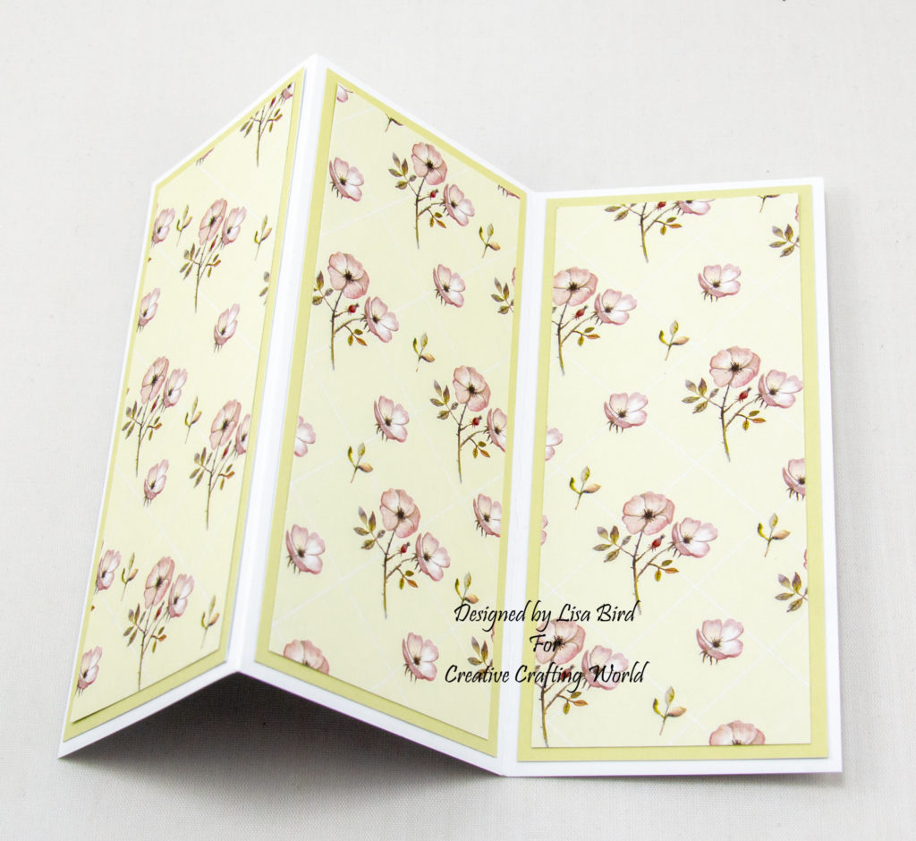Swing card inside layer using Where Wild Roses Grow paper collection