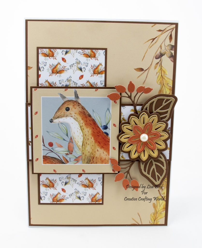 Handmade card using A Whisper Of Autumn from creative crafting world