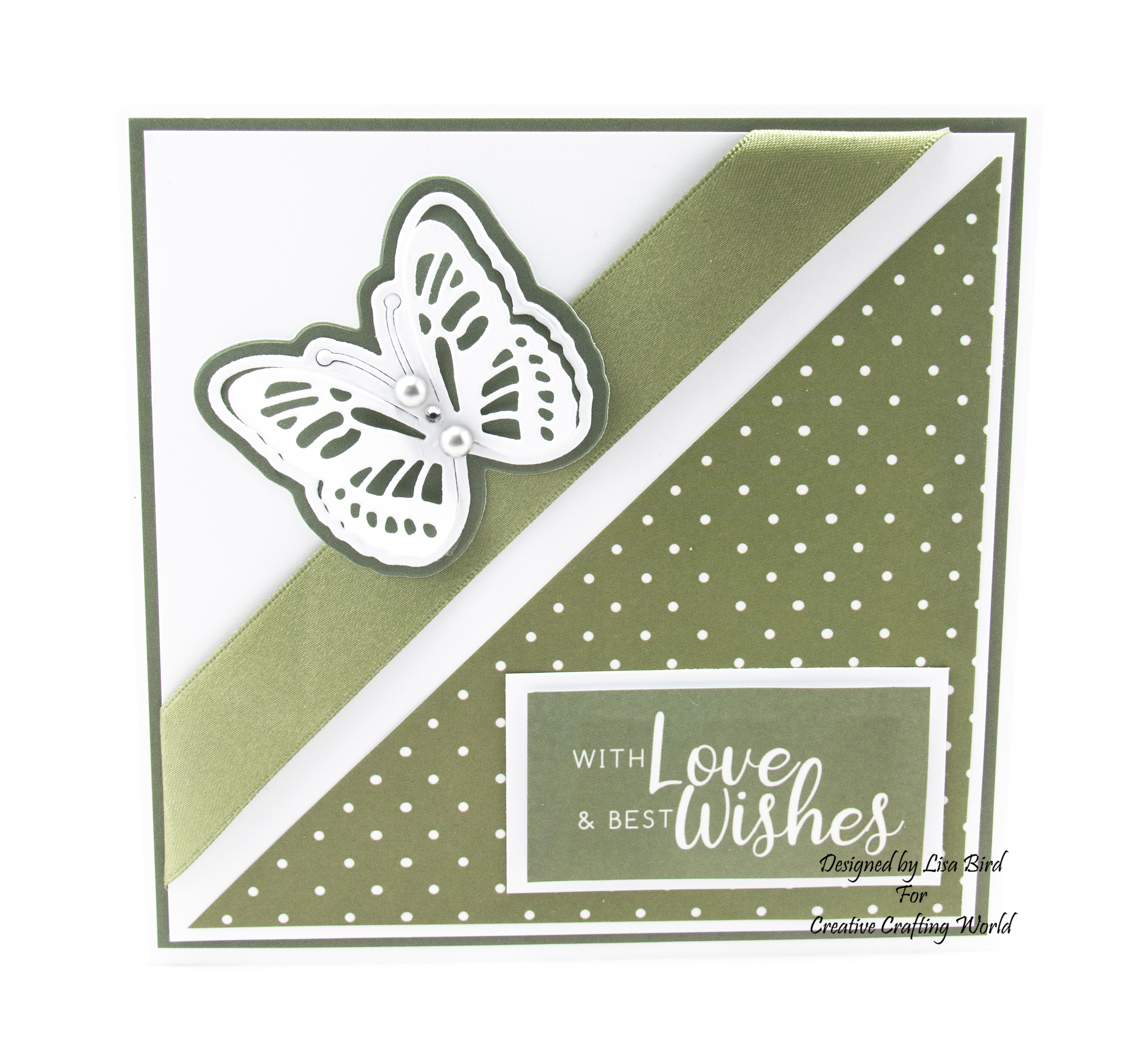 Handmade card using blossom in breeze paper collection
